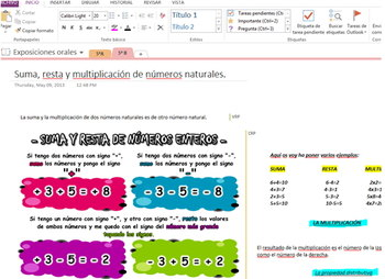 Mathematics on OneNote